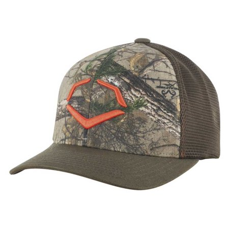 Evoshield Outdoor Flex Fit Realtree Camo Trucker Hat Cap Green Camo (Flexfit Trucker)