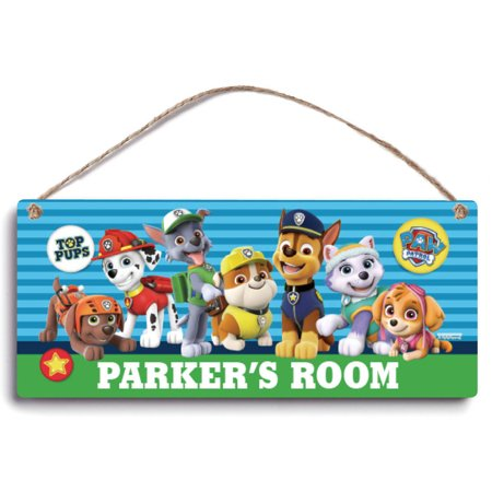 Personalized Paw Patrol Pawsome Room Sign
