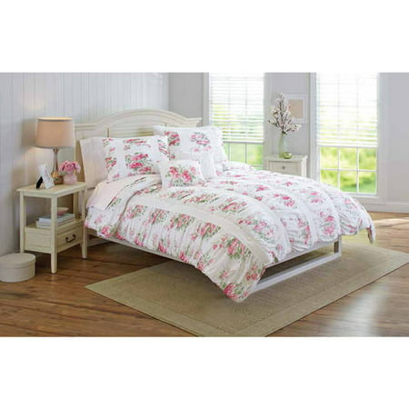 Better Homes And Gardens 5 Piece Floral Ruching Bedding