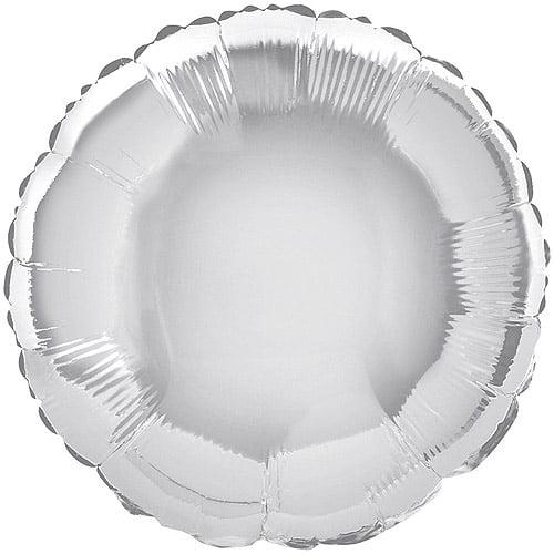 "18"" Round Foil Silver Balloon"