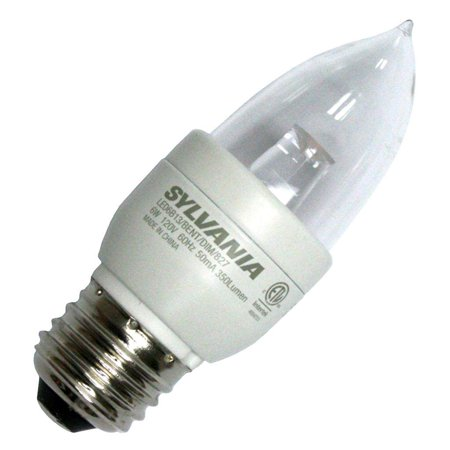 Sylvania 78407 - LED6B13/BENT/DIM/827/RP Blunt Tip LED Light Bulb