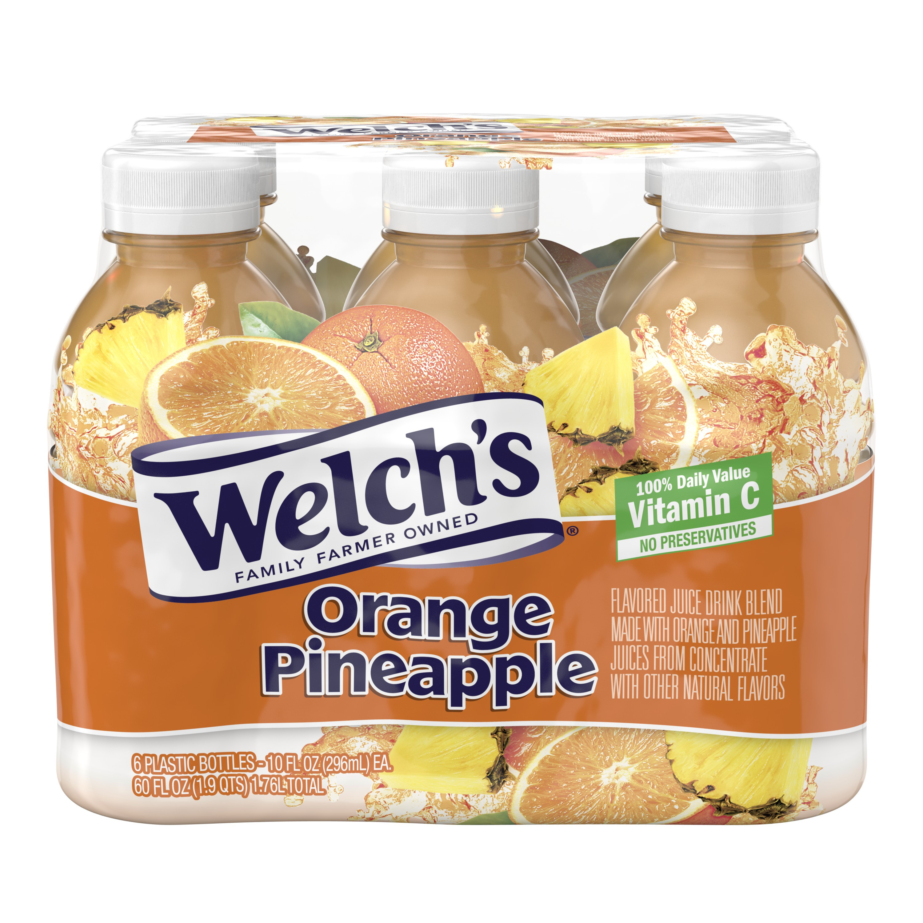 Welch's Juice, Orange Pineapple, 10 Fl Oz, 6 Count