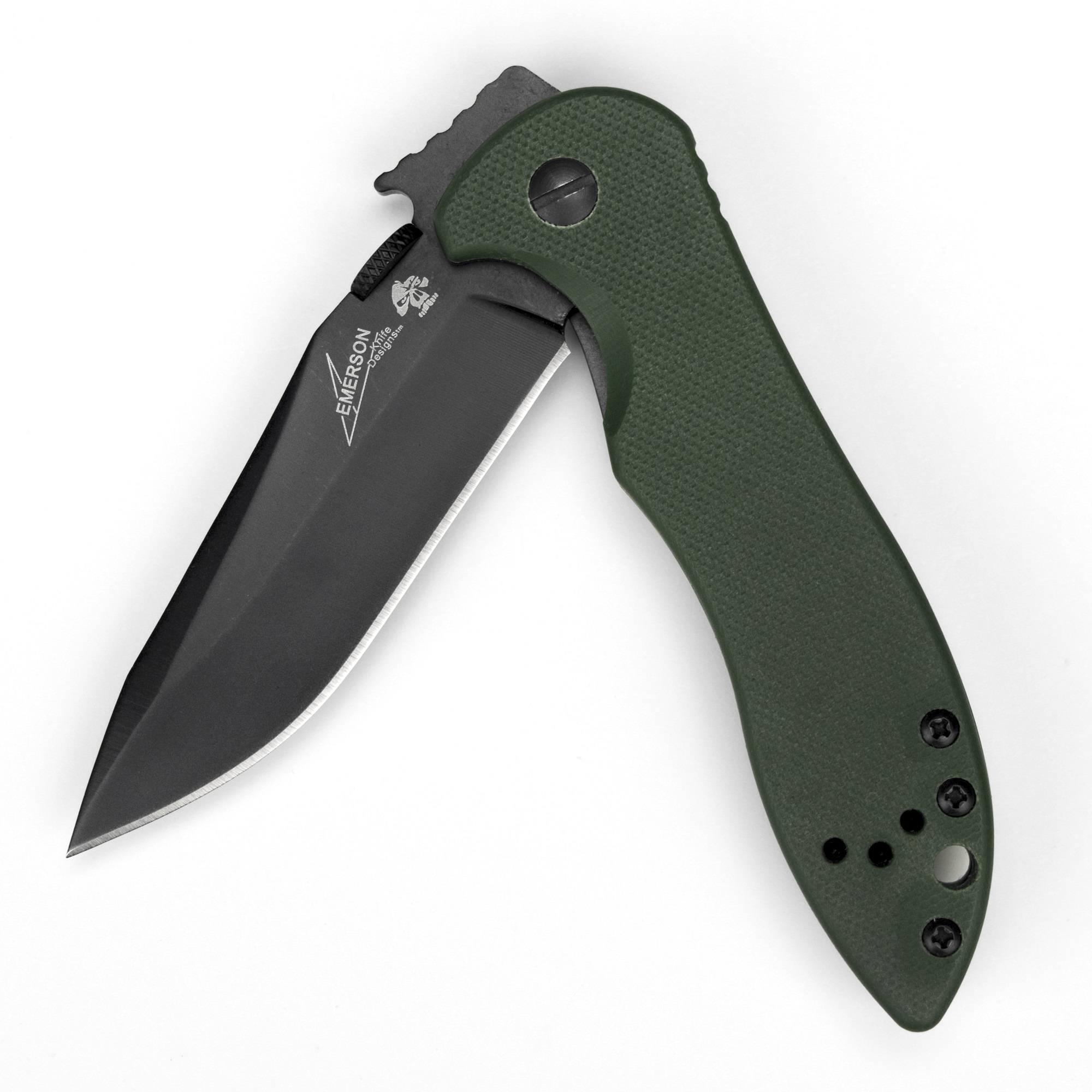 Kershaw CQC-5K (6074OLBLK); 3 In. 8Cr14MoV Stainless Steel Blade with Black-Oxide Coating and Textured Olive Drab G-10 Handle Scales, Wave-Shaped Opening System and Reversible Pocketclip, 3.7 OZ.