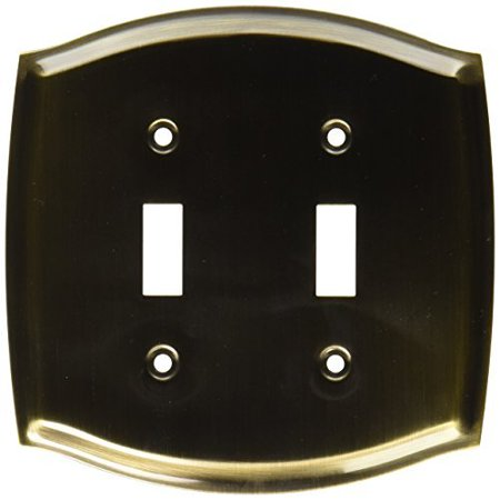 Baldwin 4766050 Double Toggle Colonial Switch Plate Antique Brass Finish