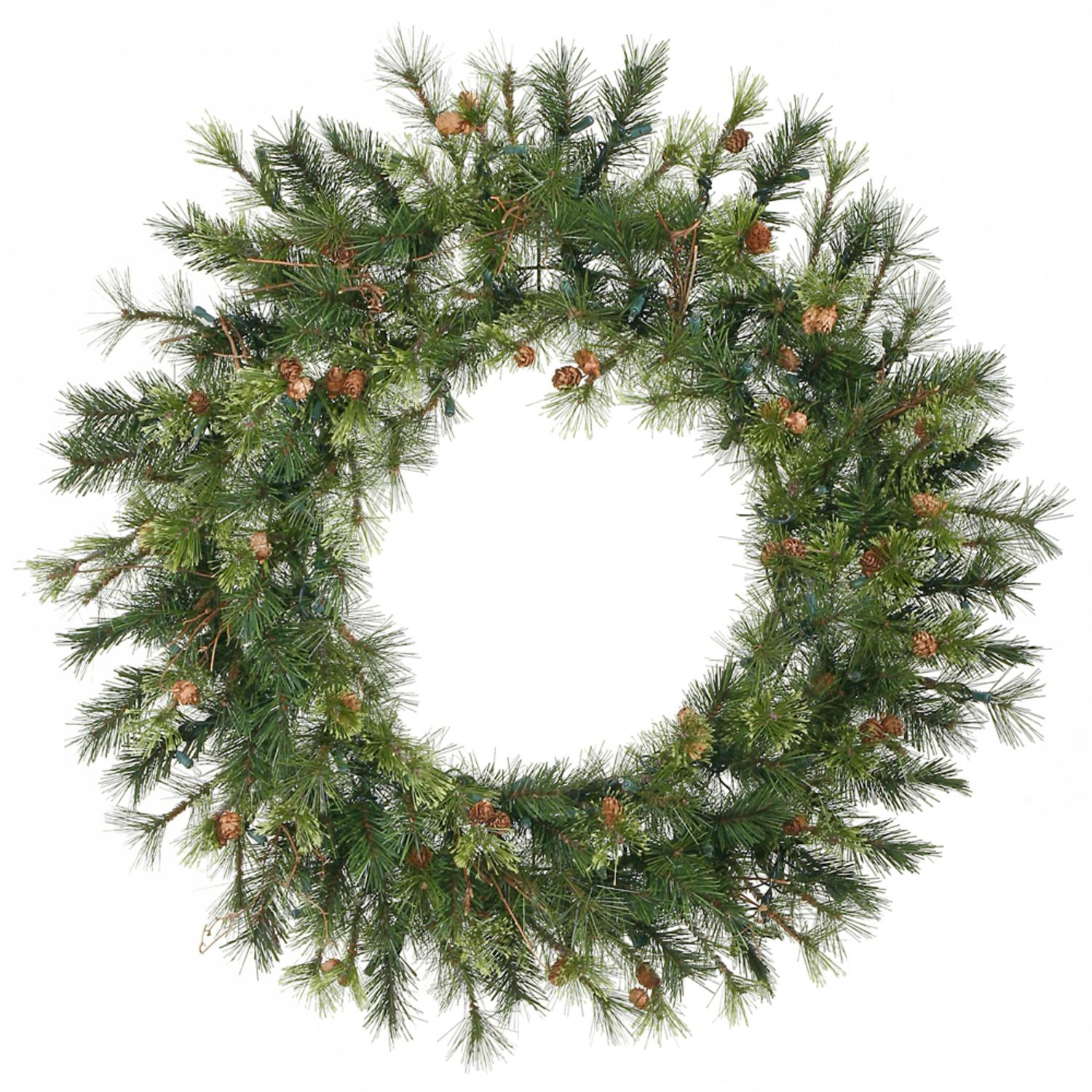 "30"" Mixed Country Pine Artificial Christmas Wreath - Unlit"