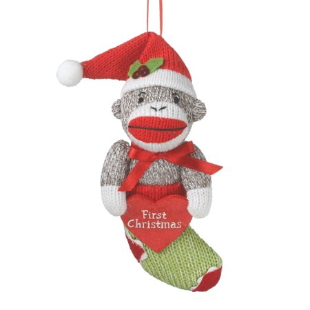 Midwest CBK Babys First Christmas Sock Monkey in Stocking Holiday (Best Midwest Man Christmas)