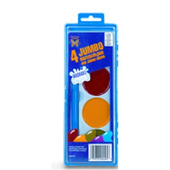 Bulk Buys 4ct.  Jumbo Washable Watercolors - Case of 24