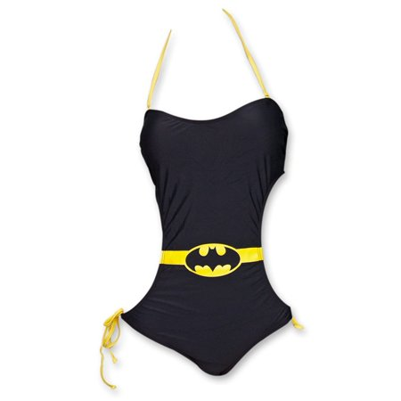 DC Comics Batman Logo Bandeau Monokini One-Piece Black