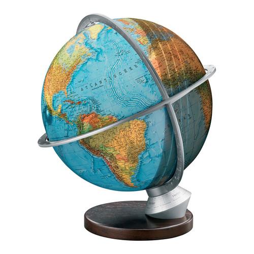 Columbus Globe Marco Polo Illuminated Desktop Globe with Wood Base