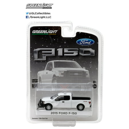 Greenlight 1:64  2015 Ford F-150 With Emergancy Lgith Bar & Snow Plow Hobby -