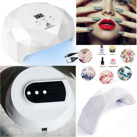 3 Types USB LED UV Nail Polish Dryer Lamp Gel Acrylic Curing Light Spa Professional Kit White