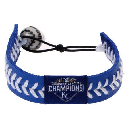 Kansas City Royals 2015 American League Champions Baseball Bracelet - Royal