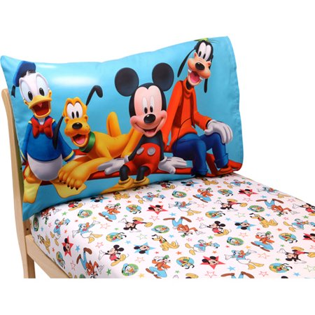 Disney Mickey Mouse Playground Pals 2 Piece Toddler Sheet Set