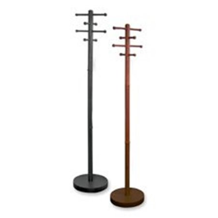 Wood Coat Trees- 8 Pegs- 68in. H- (Cherry Peg)