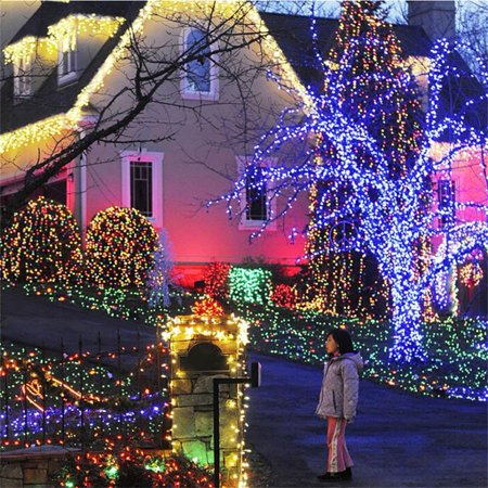 solar powered waterproof 200led bulbs string fairy hanging lights garden outdoor christmas party lamp holiday decoration