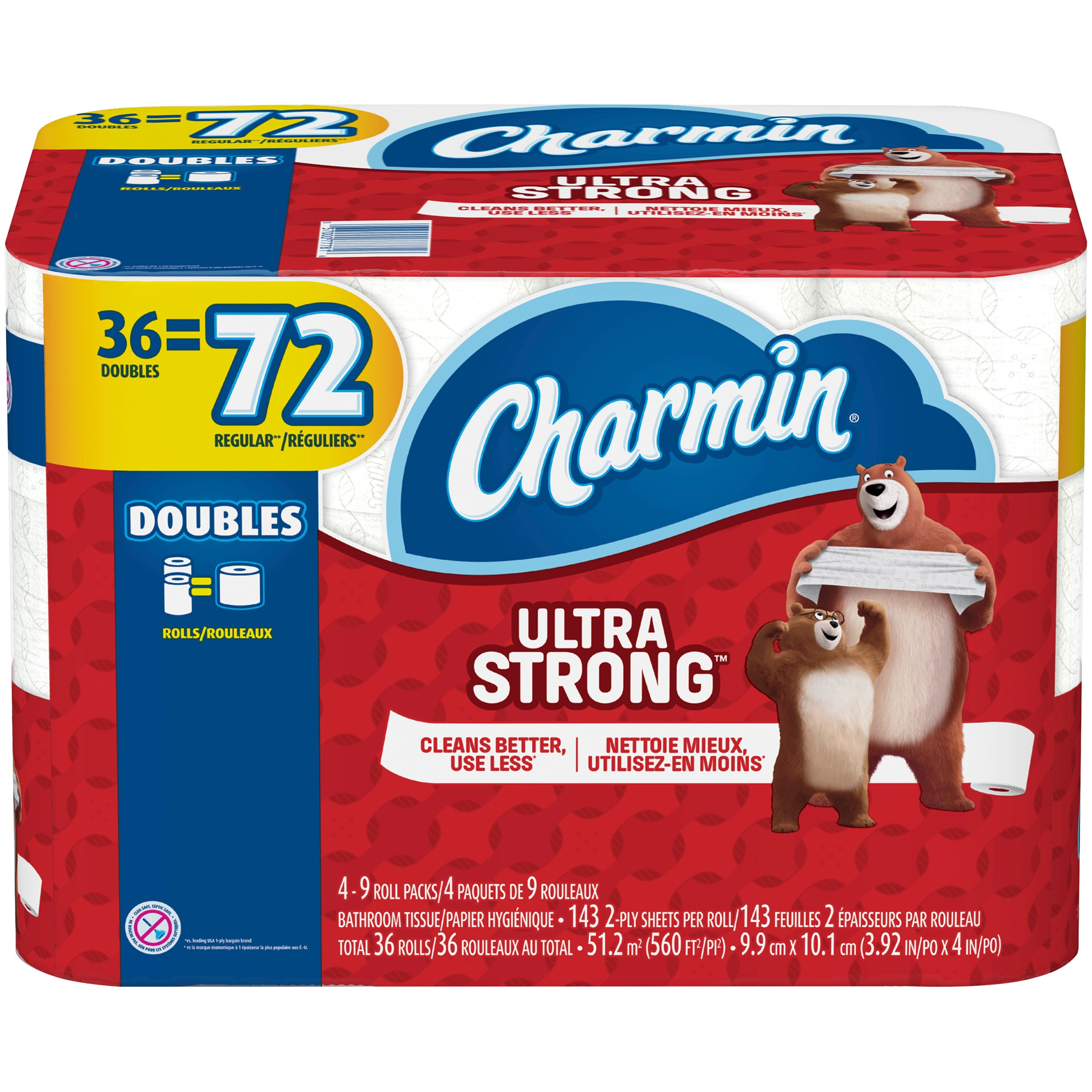 Charmin Ultra Strong Toilet Paper 36 Double Rolls