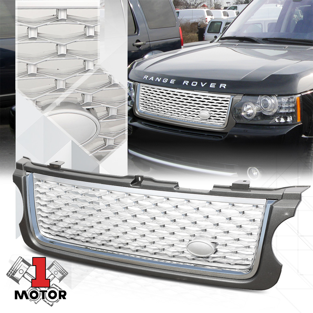 Grey/Chrome/Silver ABS Autobiography Style Grille/Grill for 10-13 Range Rover 11 12