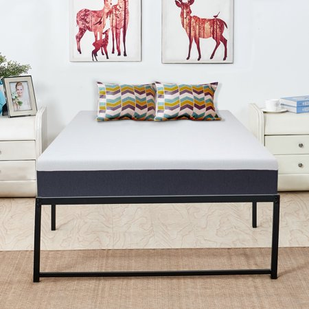Metal Platform Bed Frame Full Size With Storage No