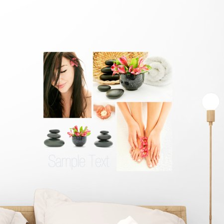 Spa and Wellness Treatment Wall Mural by Wallmonkeys Peel and Stick Gr