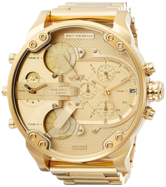 Diesel Watch Men Mr. Daddy 2.0 Chronograph Gold Dial DZ7399