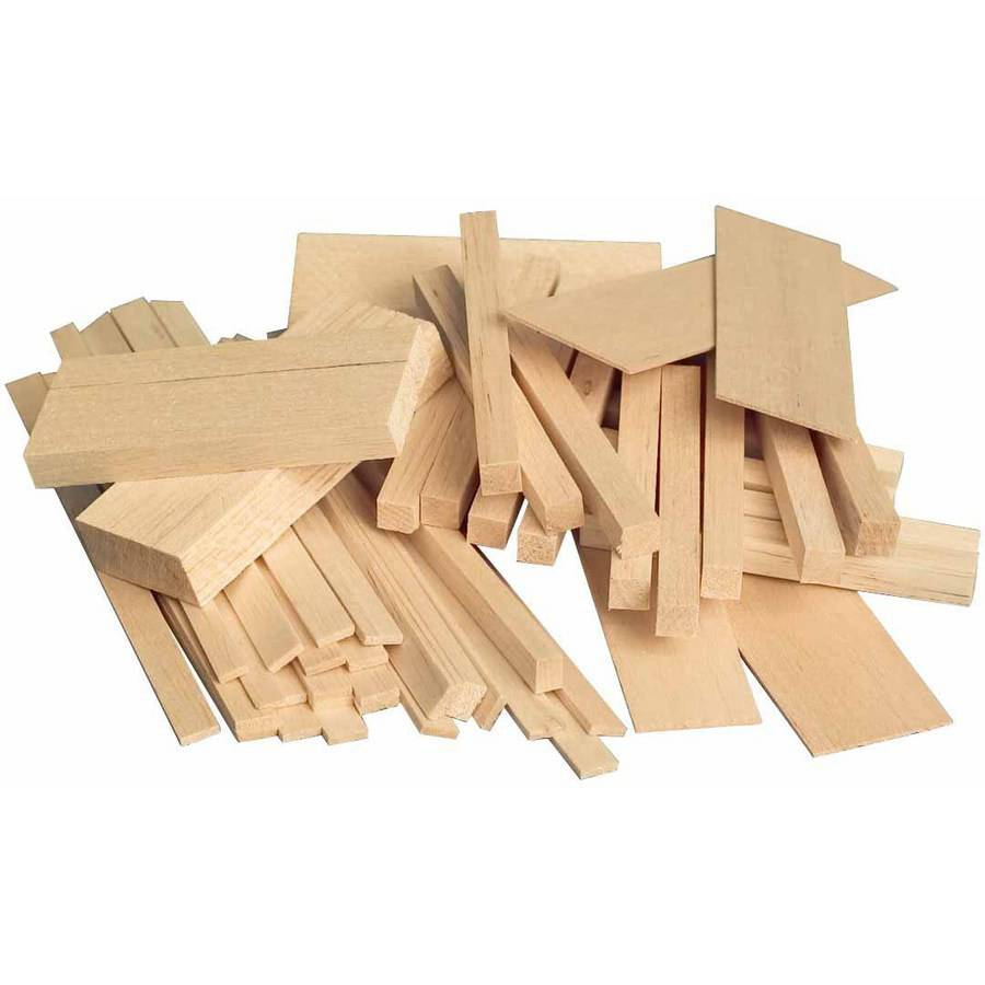 Sax, Balsa Project Wood, Economy-Size Bag, Assorted Sizes