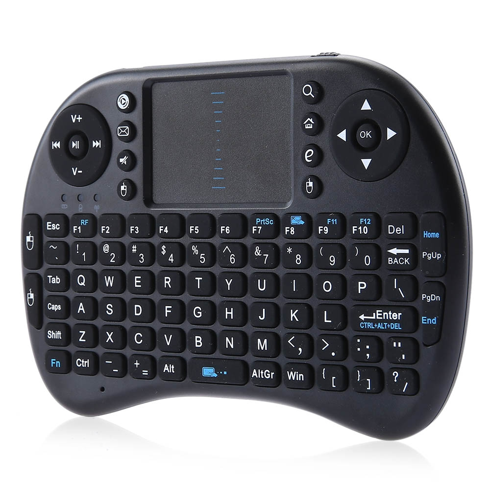 iPazzPort Mini Wireless Mini Keyboard with Touchpad for Android TV Box(KP - 810 - 21 Black)