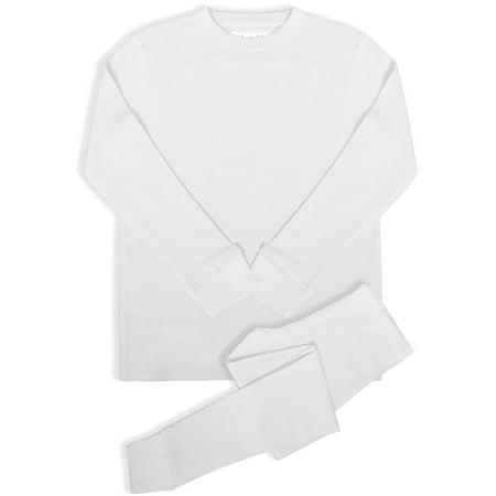 BASICO Women's 2pc Long John Thermal Underwear Set 100%