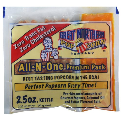 Great Northern Popcorn Case Portion Packs, 24 Count, 2 1/2-Ounce