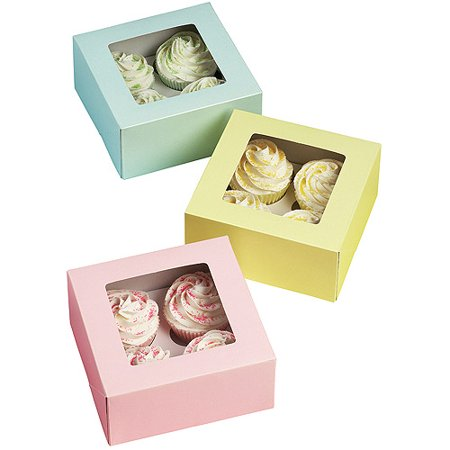 Wilton 4-Cavity Cupcake Box, Pastel 3 ct. 415-1361