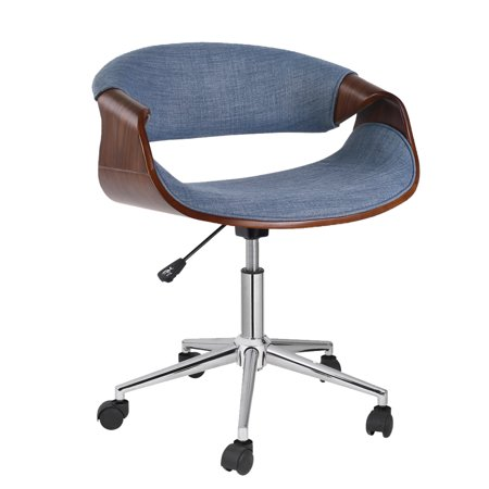 Porthos Home Adjustable Stool With Fabric Upholstery, 360-Degree Swivel And Wheels (Mid-Century Style, Various Colors)