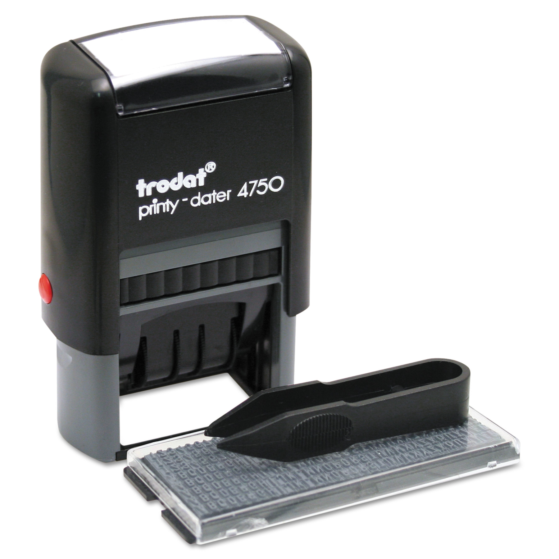 Trodat Self-Inking Do It Yourself Message Dater, 3/4 x 1 7/8, Blue/Red