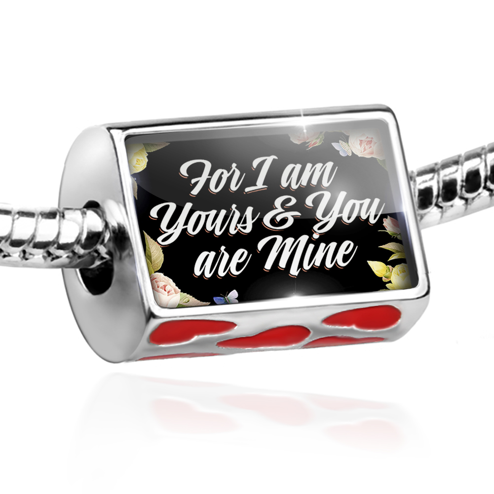 Bead Floral Border For I am Yours & You are Mine Charm Fits All European Bracelets