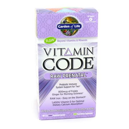 Vitamin Code Raw Prenatal By Garden Of Life 180 Capsules