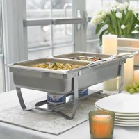 Sterno 70153 Foldable Frame Buffet Chafer Set, 8-Quart