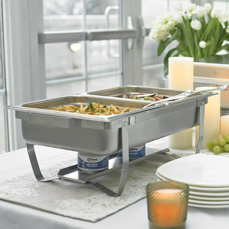 Sterno 70153 Foldable Frame Buffet Chafer Set, 8-Quart - Walmart Food Warmer