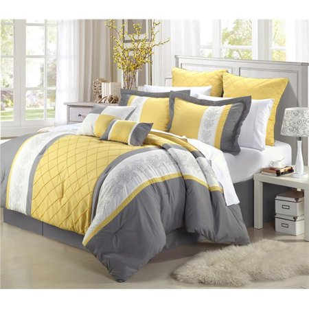 Chic Home 35cq111 Us Livingston Embroidered Comforter Set