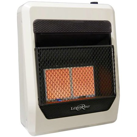 Lost River Natural Gas Ventless Infrared Radiant Plaque Heater - 20,000 BTU, Model# LR2TIR-NG