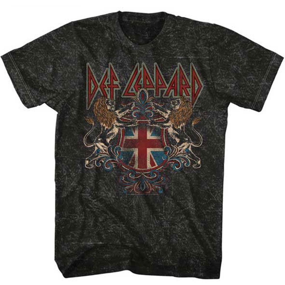 Def Leppard Men's  Defcrest Slim Fit T-shirt Charcoal