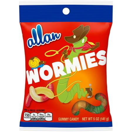 ALLAN wormies 5 bonbons gommeux onces. Sac