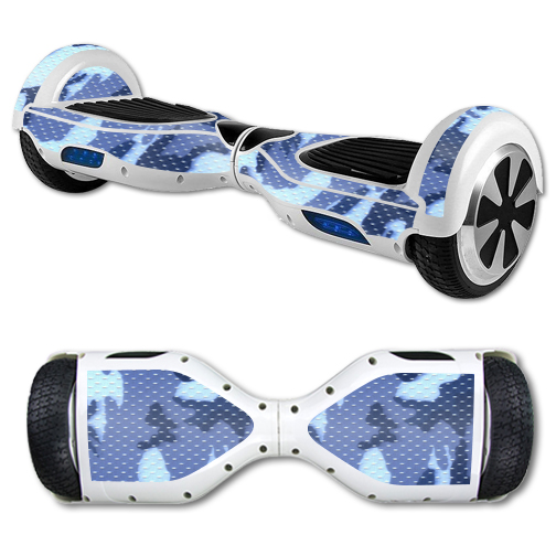 MightySkins Protective Vinyl Skin Decal for Hover Board Self Balancing Scooter mini 2 wheel x1 razor wrap cover sticker Blue Camo