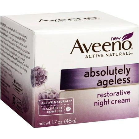 Restorative Creme - 3 Pack - AVEENO Active Naturals Absolutely Ageless Restorative Night Cream, Blackberry 1.7 oz