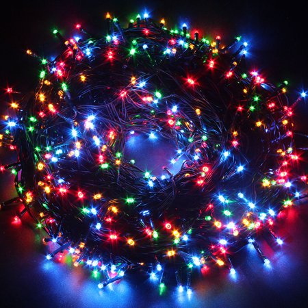 Excelvan multi color 100m string fairy lights 500 led for 57in led lighted peacock outdoor christmas decoration