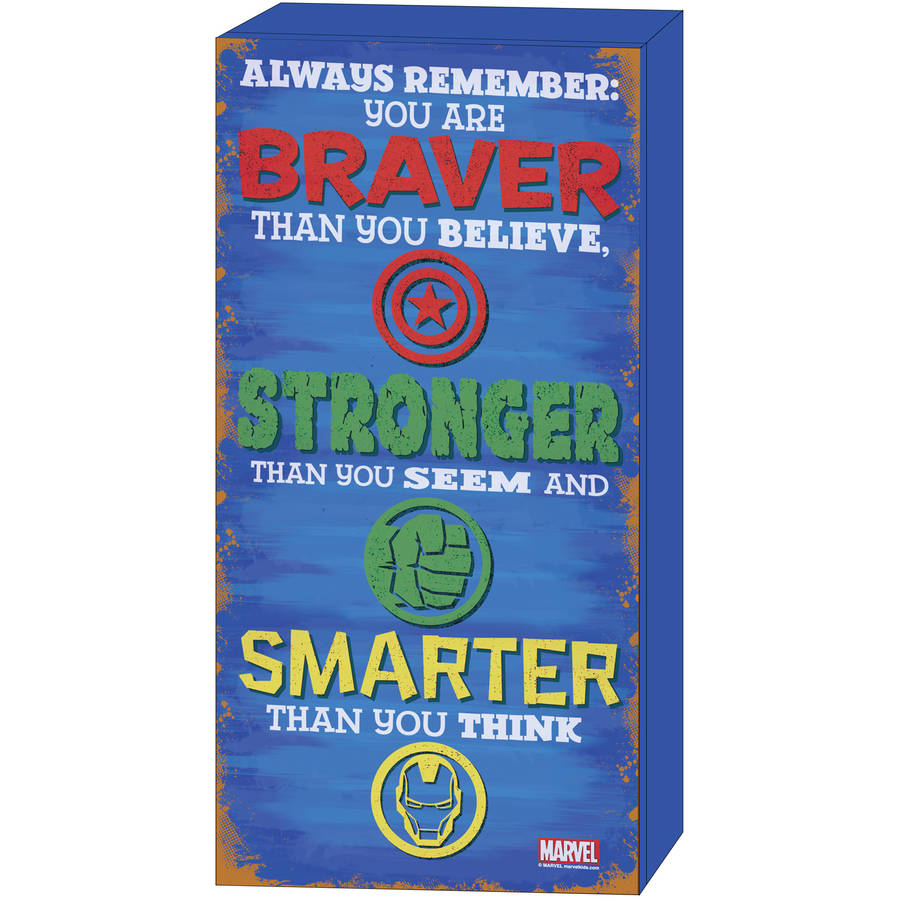 "Marvel Avengers ""Stronger"" Inspirational MDF Wall Art"