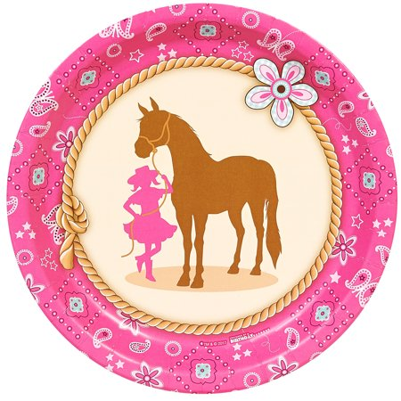 Western Cowgirl Party Dinner Plates (8)