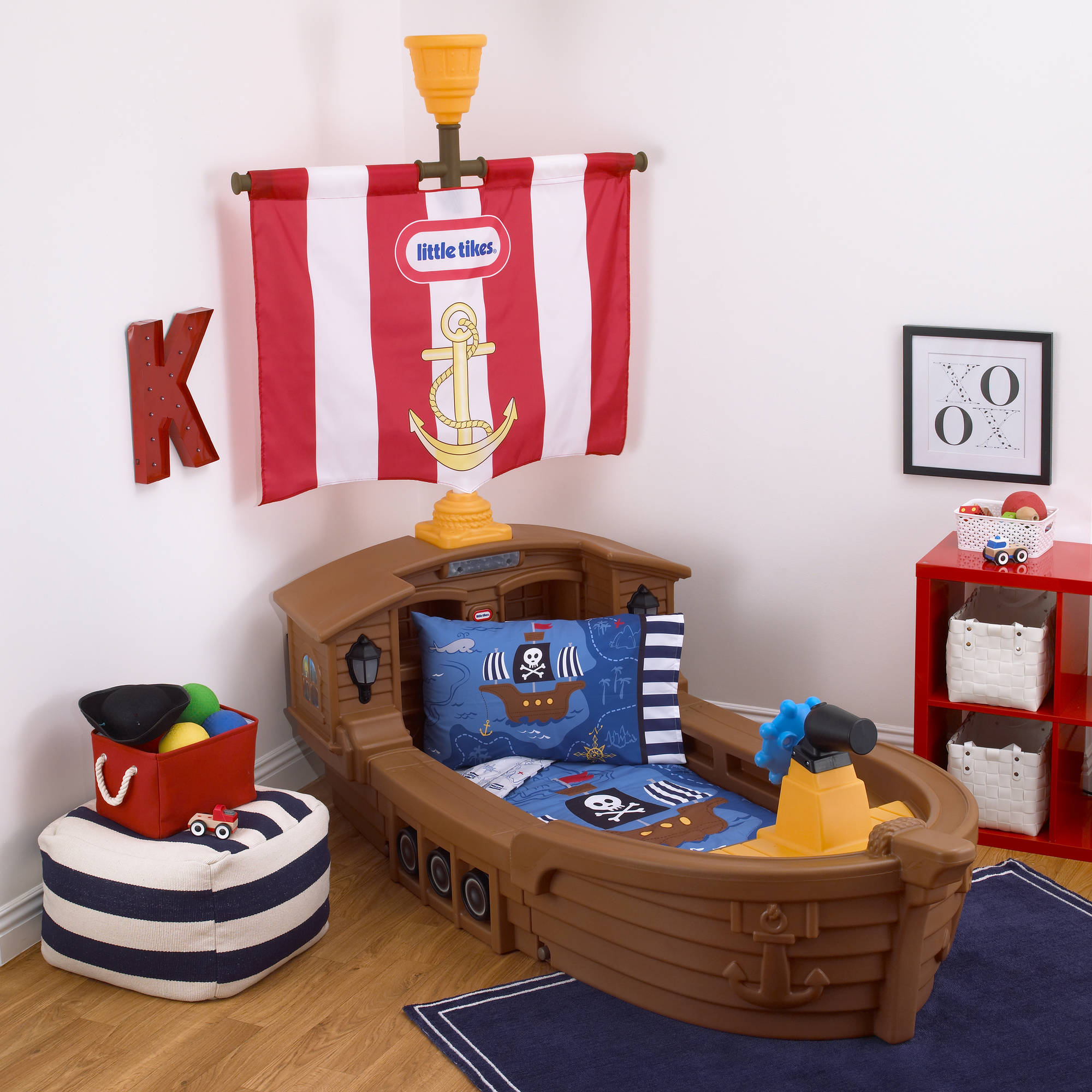 new styles 7b1a2 55f91 Little Tikes Pirate 4-Piece Toddler Bedding Set