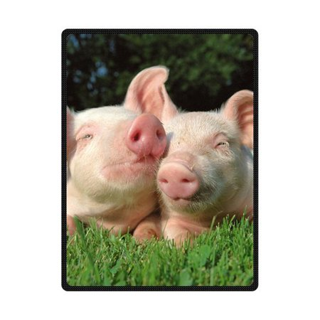 CADecor Pig Fleece Blanket Throw Blanket 58x80 inches