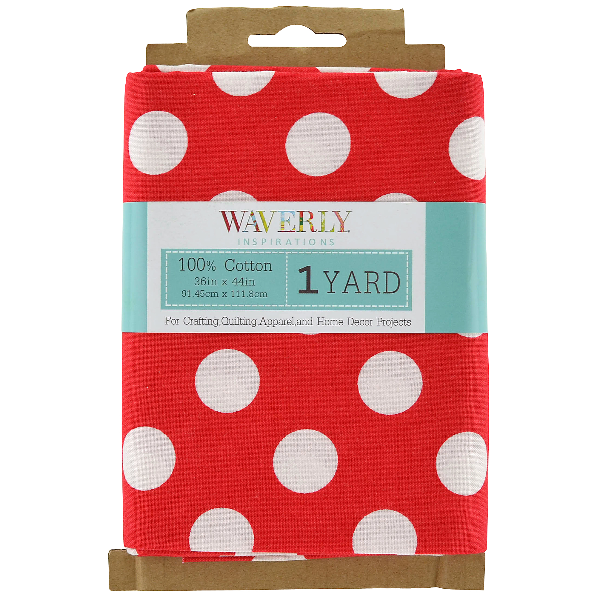 Waverly Inspirations Pre-Cut Large Dot Poppy Fabric, 1 Each