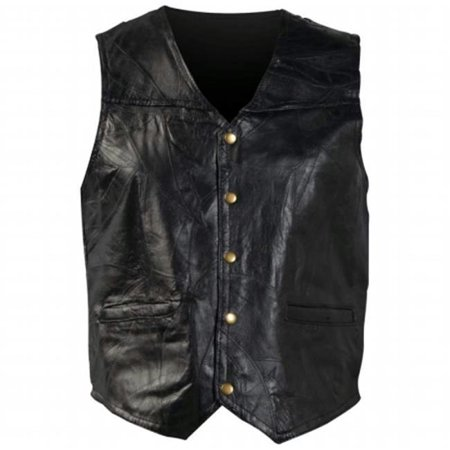 Italian Stone Design Genuine Leather Vest- 7x