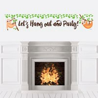 Let's Hang - Sloth - Baby Shower Decorations Party Banner
