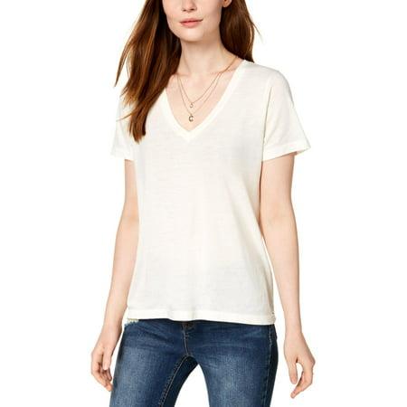 Lucky Brand Womens Heathered V-Neck T-Shirt